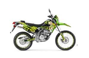 Kawasaki KLX250 Enduro Dirt Bike Graphic Kit - 2008-2018 Motorhead Mandy Green