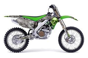 Honda CRF230 F Dirt Bike Graphic Kit - 2003-2007 Firestorm Black Checkered Skull