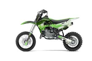 Kawasaki KLX110 Dirt Bike Graphic Kit - 2002-2009 Carbon X Green