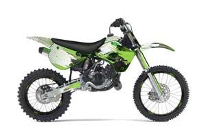 Kawasaki KX100 Dirt Bike Graphic Kit - 1995-1997 Carbon X Green