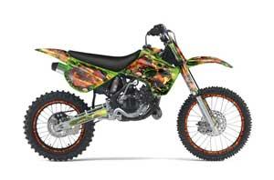 Kawasaki KX80 Dirt Bike Graphic Kit - 1995-1997 Firestorm Green