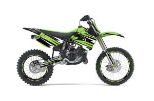 Kawasaki KX100 Dirt Bike Graphic Kit - 2001-2013 Attack Green