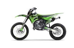 Kawasaki KX100 Dirt Bike Graphic Kit - 2014-2020 Carbon X Green