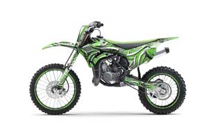 Kawasaki KX100 Dirt Bike Graphic Kit - 2014-2020 Deaden Green