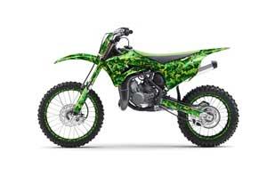 Kawasaki KX100 Dirt Bike Graphic Kit - 2014-2020 Digicamo Green