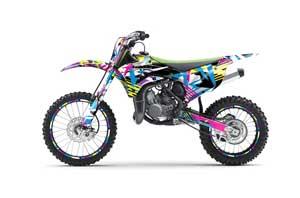 Kawasaki KX100 Dirt Bike Graphic Kit - 2014-2020 Flashback