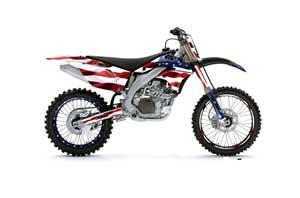Kawasaki KXF450 Dirt Bike Graphic Kit - 2006-2008 Stars and Stripes Red White & Blue