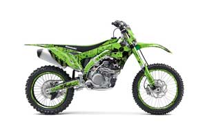 Kawasaki KXF450 Dirt Bike Graphic Kit - 2016 Meltdown Green
