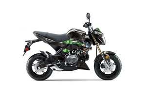 Kawasaki Z125 Pro Dirt Bike Graphic Kit - 2017-2018 Mad Hatter Green