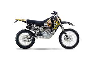 KTM C0 SX / MXC 4 Stroke Dirt Bike Graphic Kit - 1993-1997 Motorhead Mandy Black
