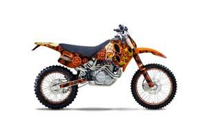 KTM C0 SX / EXC 4 Stroke Dirt Bike Graphic Kit - 1993-1997 Motorhead Mandy Orange