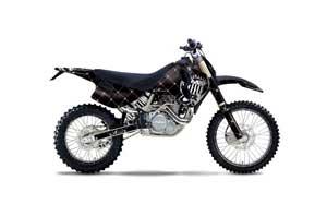 KTM C0 SX 4 Stroke Dirt Bike Graphic Kit - 1993-1997 Silver Star - Reloaded Black
