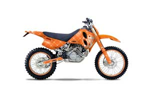 KTM C0 SX 4 Stroke Dirt Bike Graphic Kit - 1993-1997 Silver Star - Reloaded Orange