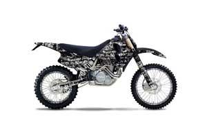 KTM C0 SX 4 Stroke Dirt Bike Graphic Kit - 1993-1997 Silver Star - Silverhaze Black