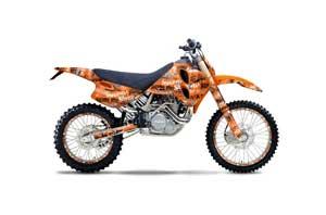 KTM C0 SX 4 Stroke Dirt Bike Graphic Kit - 1993-1997 Silver Star - Silverhaze Orange