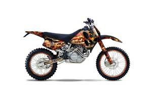 KTM C0 SX / EXC 4 Stroke Dirt Bike Graphic Kit - 1993-1997 Firestorm Black