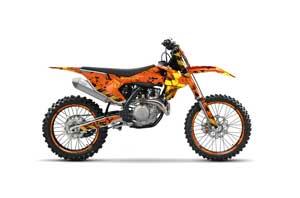 KTM C10 SX / SX-F / XC-F Dirt Bike Graphic Kit - 2016-2020 Meltdown Orange