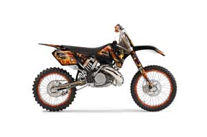 KTM C3 EXC Dirt Bike Graphic Kit - 2001-2002 Firestorm Black