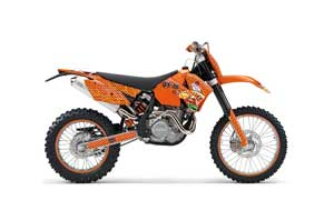KTM C4 SX Dirt Bike Graphic Kit - 2005-2006 Vegas Baller Orange