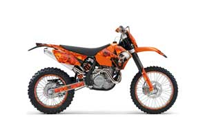 KTM C4 EXC Dirt Bike Graphic Kit - 2005-2007 Bone Collector Orange