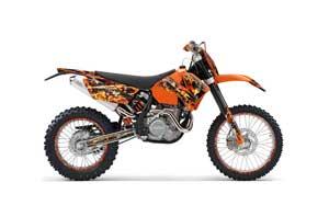 KTM C4 EXC Dirt Bike Graphic Kit - 2005-2007 Firestorm Orange