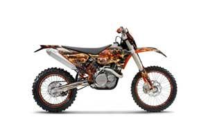 KTM C5 SX / SX-F 125 / 525 Dirt Bike Graphic Kit - 2007-2010 Firestorm Black