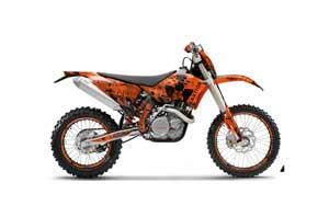 KTM C5 SX / SX-F 125 / 525 Dirt Bike Graphic Kit - 2007-2010 Meltdown Orange