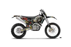 KTM C5 XC 125 / 525 Dirt Bike Graphic Kit - 2008-2010 Number of the Beast