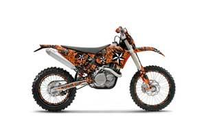 KTM C5 XC 125 / 525 Dirt Bike Graphic Kit - 2008-2010 North Star Orange