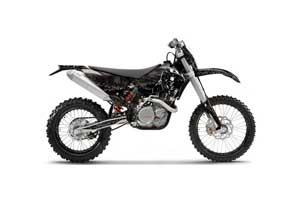 KTM C5 XC 125 / 525 Dirt Bike Graphic Kit - 2008-2010 Reaper Black