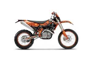 KTM C5 WCFW 250 Dirt Bike Graphic Kit - 2011 Reaper Orange
