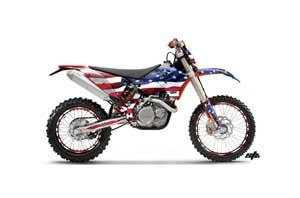 KTM C5 WCFW 250 Dirt Bike Graphic Kit - 2011 Stars and Stripes Red White & Blue