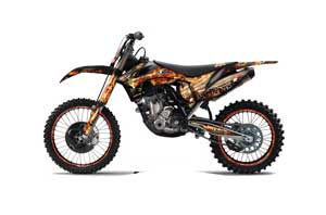KTM C7 XC Dirt Bike Graphic Kit - 2012-2013 Firestorm Black