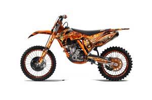 KTM C7 SX / SX-F Dirt Bike Graphic Kit - 2011-2012 Firestorm Orange