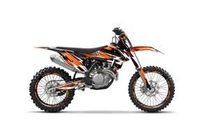 KTM SX-F / XC-F 250 / 350 / 450 Dirt Bike Graphic Kit - 2016 Attack Orange