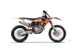 KTM SX-F / XC-F 250 / 350 / 450 Dirt Bike Graphic Kit - 2016 Carbon X Orange