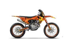 KTM SX-F / XC-F 250 / 350 / 450 Dirt Bike Graphic Kit - 2016 Meltdown Orange