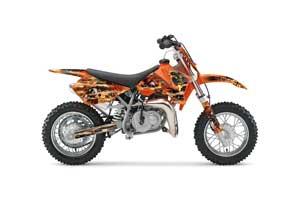 KTM SX 50 Adventure Jr / Sr Dirt Bike Graphic Kit - 2002-2008 Firestorm Orange