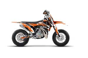 KTM SX 50 Adventure Jr / Sr Dirt Bike Graphic Kit - 2016-2018 Attack Orange