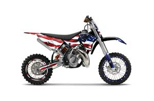 KTM SX 65 Dirt Bike Graphic Kit - 2009-2015 Stars and Stripes Red White & Blue