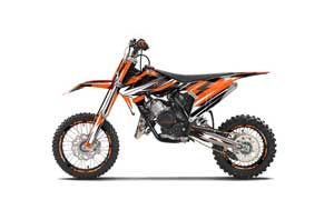 KTM SX 65 Dirt Bike Graphic Kit - 2016-2018 Attack Orange