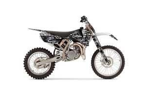KTM SX 105 Dirt Bike Graphic Kit - 2004-2005 Silver Star - Silverhaze White
