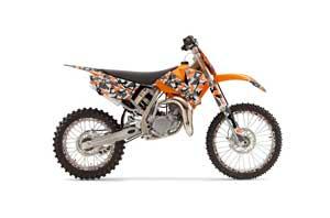 KTM SX 105 Dirt Bike Graphic Kit - 2004-2005 Urban Camo Orange