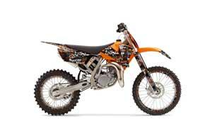 KTM SX 105 Dirt Bike Graphic Kit - 2004-2005 Silver Star - Silverhaze Orange