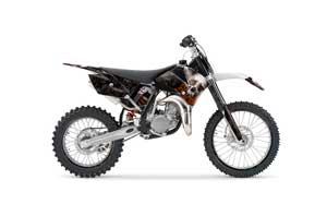 KTM SX 85 Dirt Bike Graphic Kit - 2006-2012 Bone Collector Black