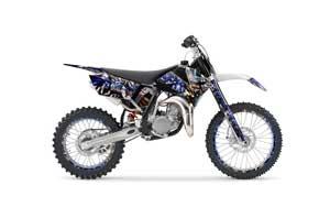 KTM SX 105 Dirt Bike Graphic Kit - 2006-2012 Mad Hatter Silver