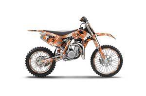 KTM SX 85 Dirt Bike Graphic Kit - 2013-2015 Camoplate Orange