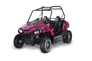 Polaris RZR 170 Graphic Kit - All Years Camoplate Pink