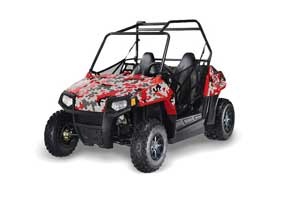 Polaris RZR 170 Graphic Kit - All Years Camoplate Red