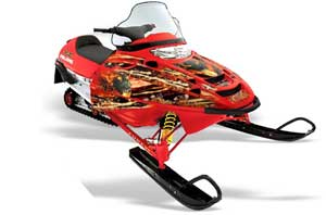 Polaris Edge Sled Graphic Kit - All Years Firestorm Red